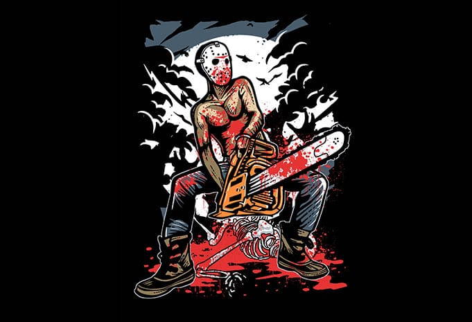Chainsaw Killer t shirt design - Chainsaw Killer tshirt design buy t shirt design