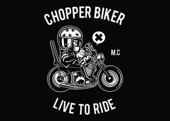 Chopper Biker buy t shirt design