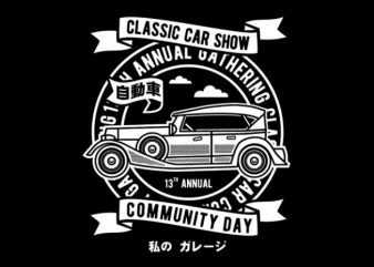 Classic Car Show t shirt vector file