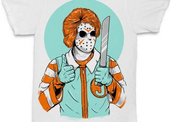 Clown Killer concept t shirt vector file