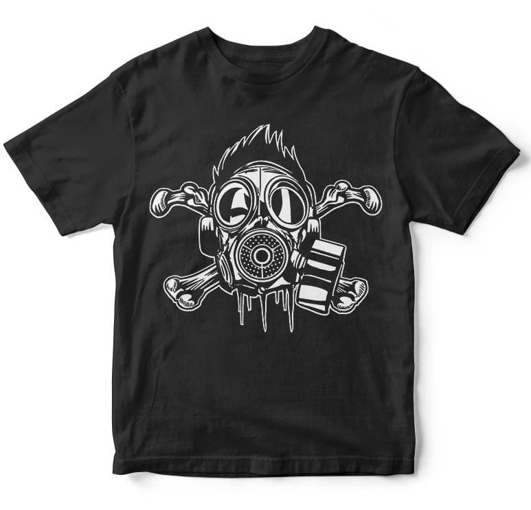 Cross Bones Gasmask buy t shirt design