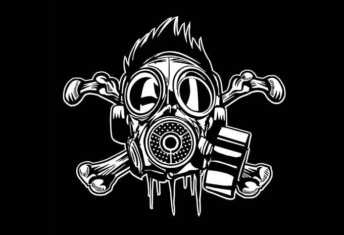 Cross Bones Gasmask - Cross Bones Gasmask buy t shirt design