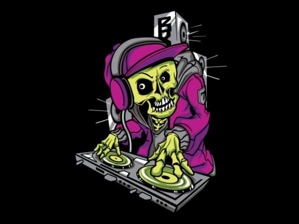 DJ Skull 600x450 - DJ Skull buy t shirt design