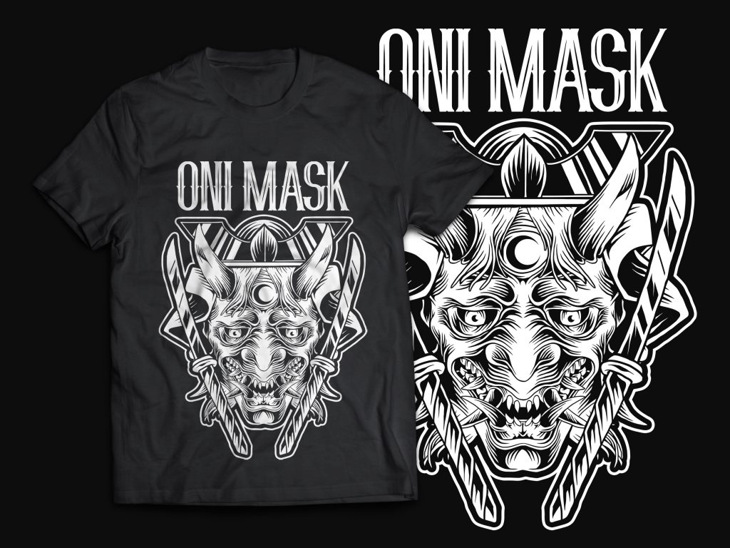 Oni Mask T-Shirt Design buy t shirt design
