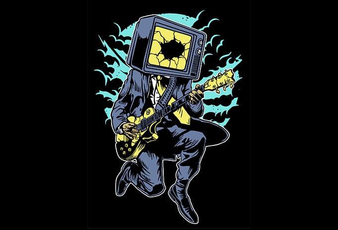 Death Rock buy tshirt designs - Death Rock tshirt design buy t shirt design