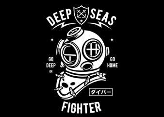 Deep Seas Fighter buy t shirt design