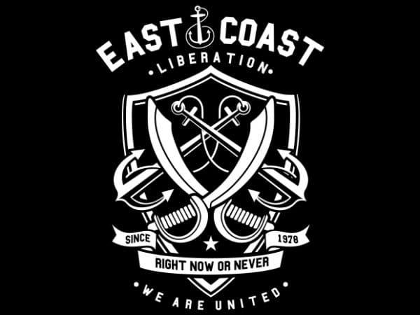 East Coast buy t shirt design
