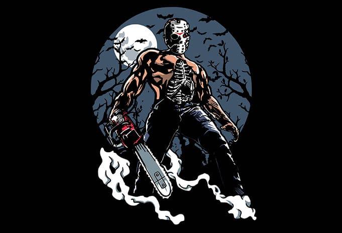 Evil Killer t shirt design - Evil Killer tshirt design buy t shirt design