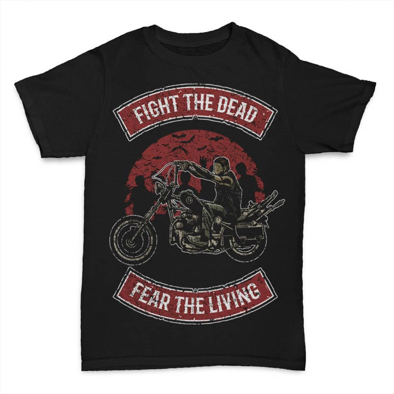 Fight The Dead tshirt design buy t shirt design