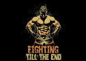 Fighter buy t shirt design