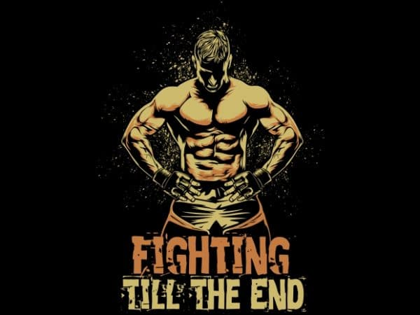 Fighter t shirt graphic design