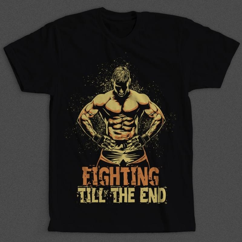 Fighter buy t shirt design