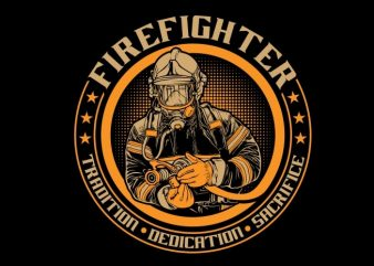 Fire Fighter buy t shirt design