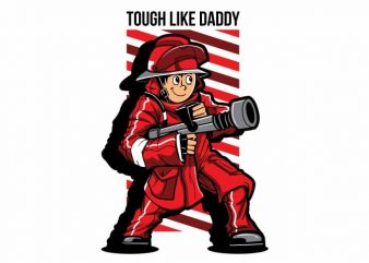 Fire Fighter Kid t shirt graphic design
