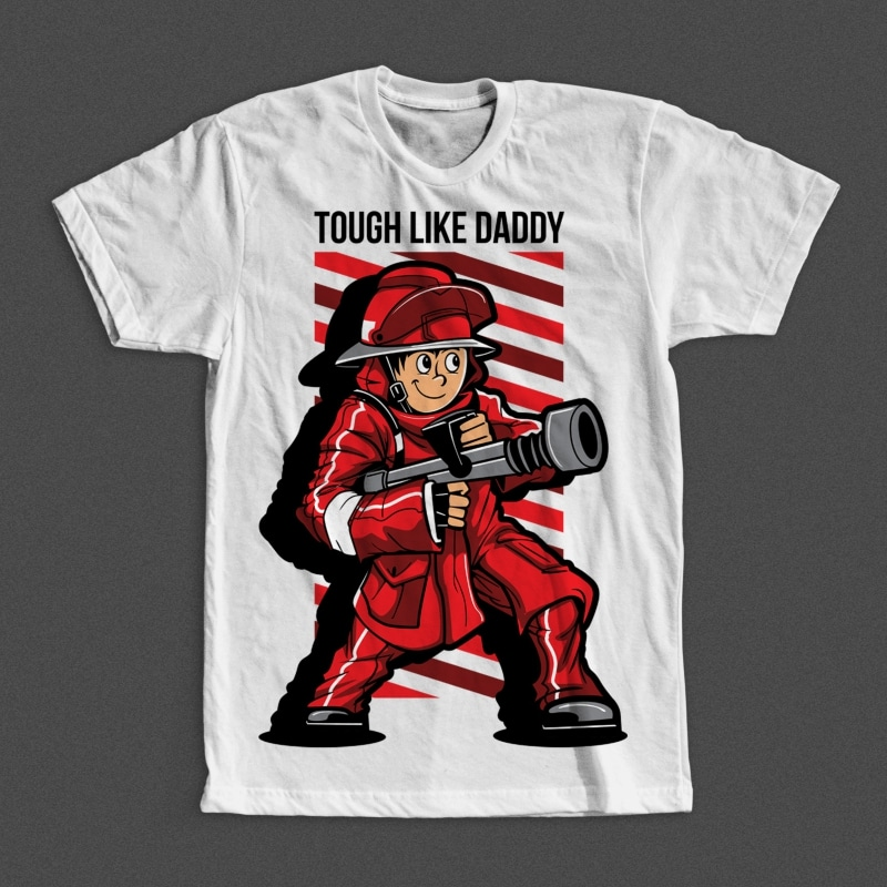 Fire Fighter Kid buy t shirt design
