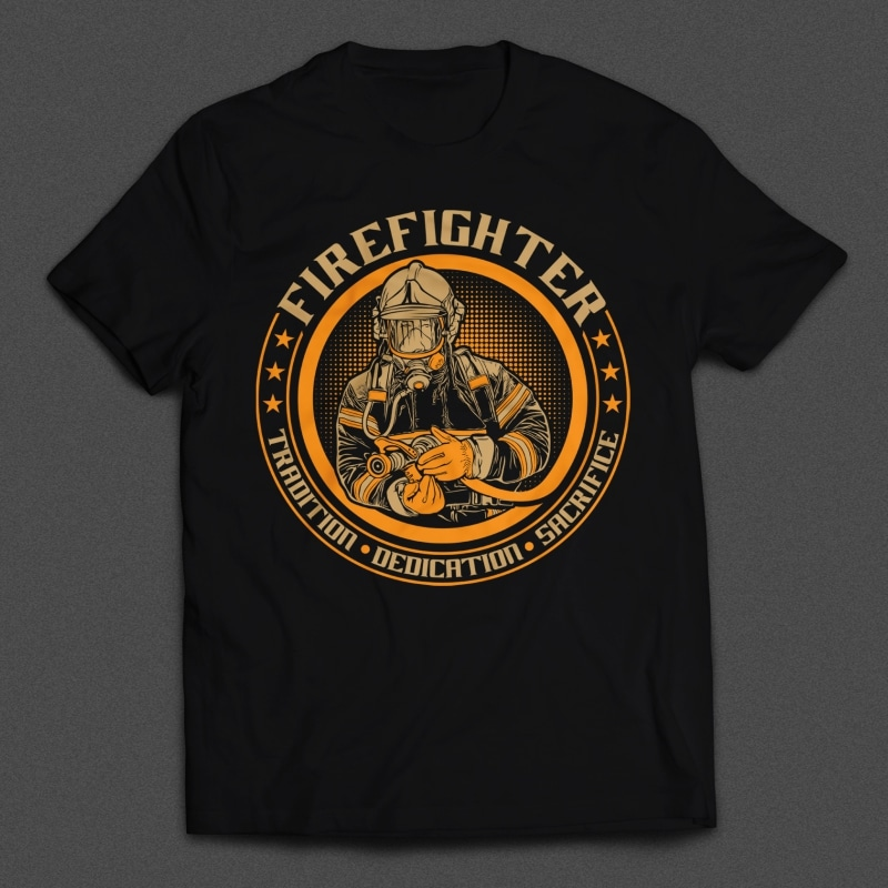 Fire Fighter Mockup - Fire Fighter buy t shirt design