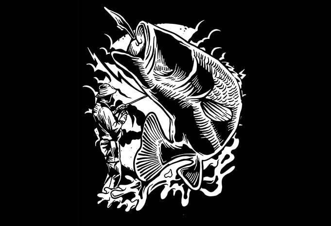 Fisherman tshirt design - Fisherman tshirt design buy t shirt design