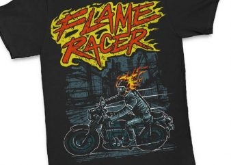 Flame Racer t shirt design buy t shirt design