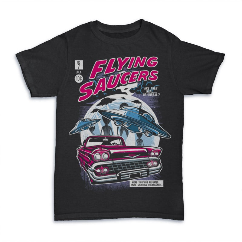 Flying Saucers tshirt design buy t shirt design