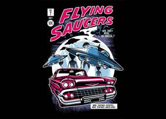 Flying Saucers tshirt design buy t shirt design