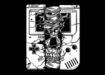 Gameboy Skull t shirt design buy t shirt design