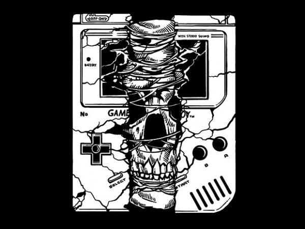 Gameboy Skull t shirt design