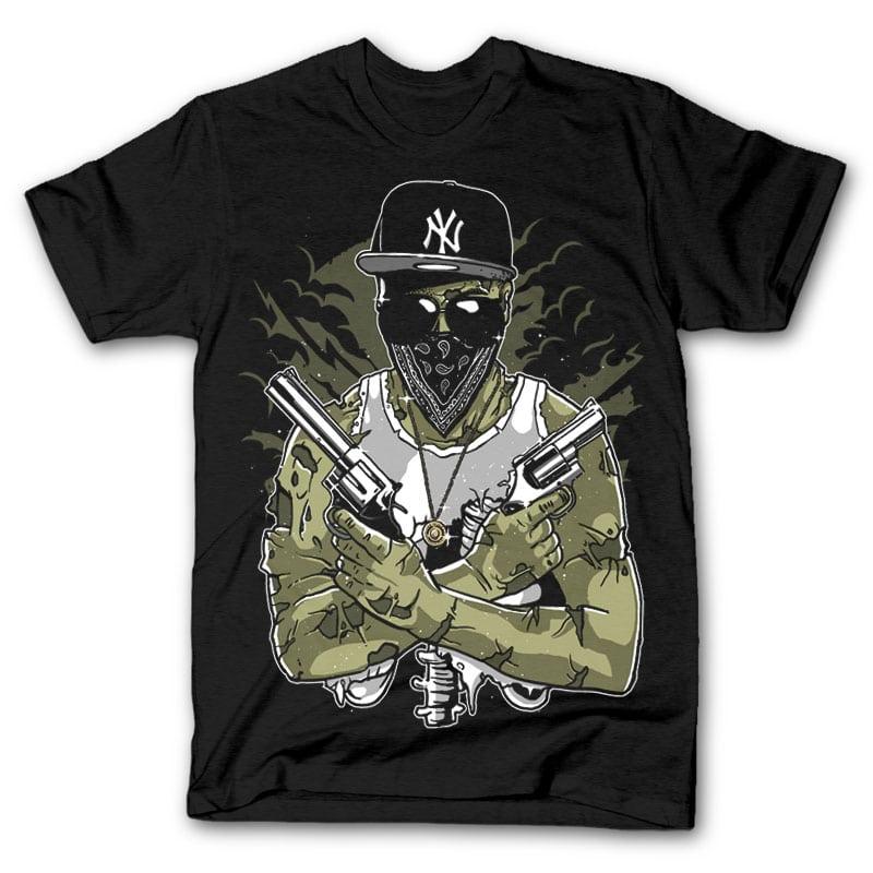 Gangsta Zombie Custom t shirts 24989 - Gangsta Zombie tshirt design buy t shirt design