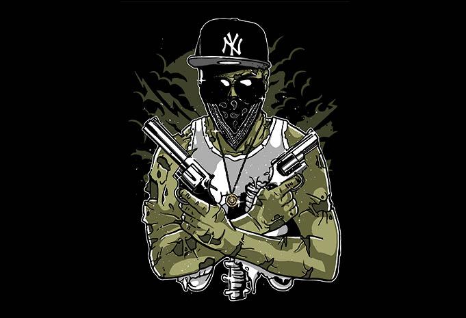 Gangsta Zombie - Gangsta Zombie tshirt design buy t shirt design