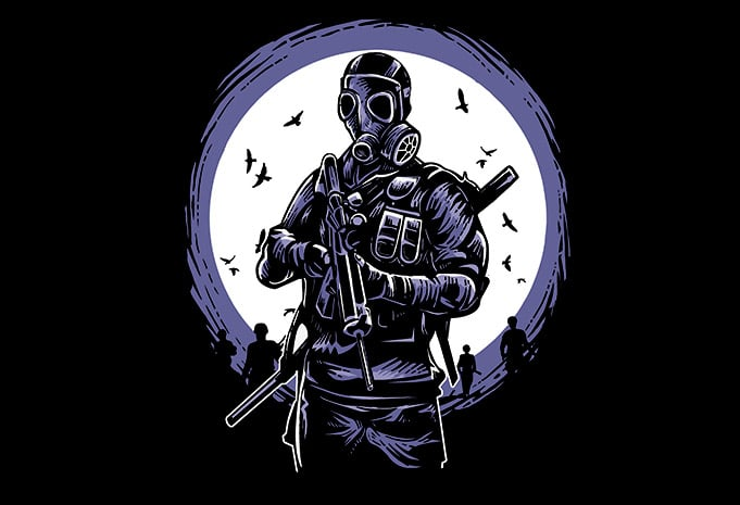 Gas Mask Soldier - Gas Mask Soldier buy t shirt design