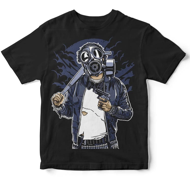 Gasmask Bastard buy t shirt design