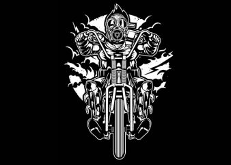 Gasmask Chopper tshirt design buy t shirt design