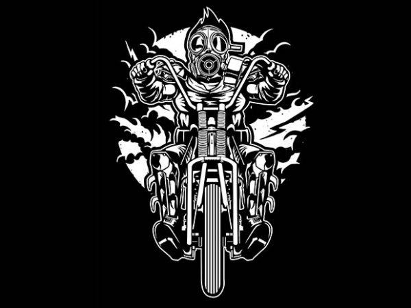 Gasmask Chopper tshirt design