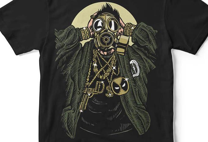 Gasmask Gangsta buy tshirt design - Gasmask Gangsta tshirt design buy t shirt design