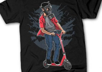 Gasmask Rider tshirt design