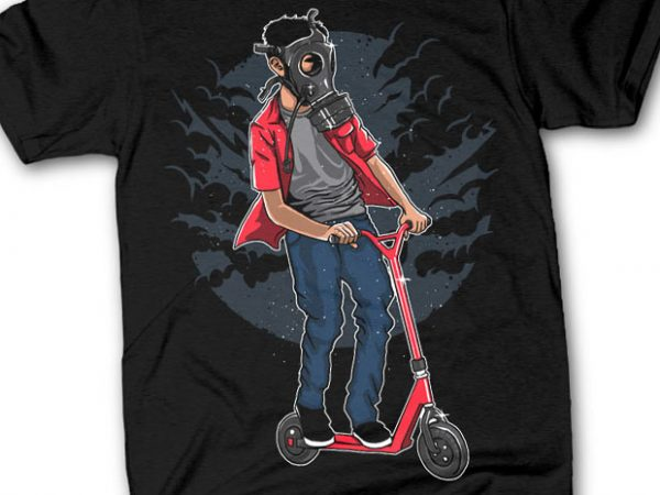 Gasmask Rider tshirt design buy t shirt design