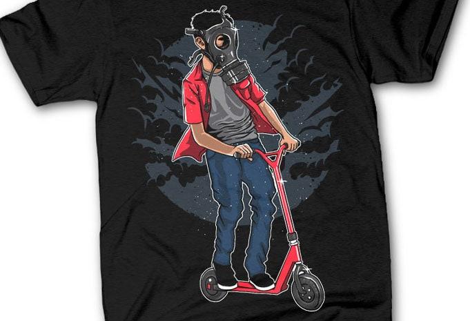 Gasmask Rider - Gasmask Rider tshirt design buy t shirt design