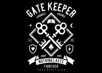 Gate Keeper t shirt design template