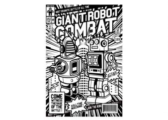 Giant Robot Combat buy t shirt design