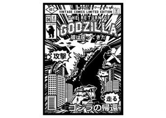 Godzilla buy t shirt design