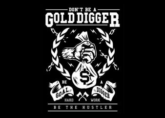 Gold Digger t shirt vector