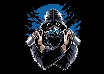 Graffiti Gasmask tshirt design buy t shirt design