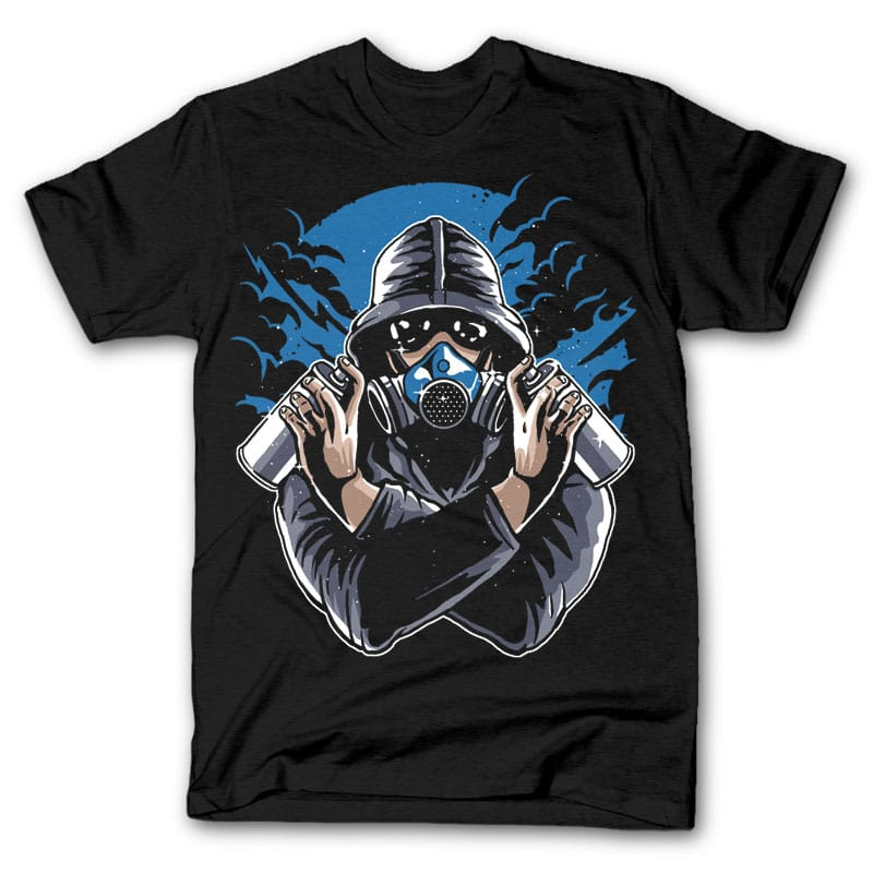 Graffiti Gasmask Tee shirts 24957 - Graffiti Gasmask tshirt design buy t shirt design