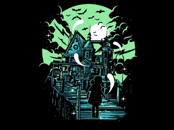 Haunted House tshirt design buy t shirt design