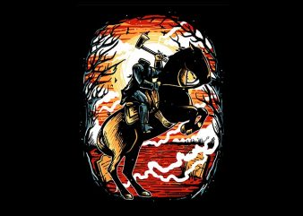 Headless Horseman tshirt design buy t shirt design
