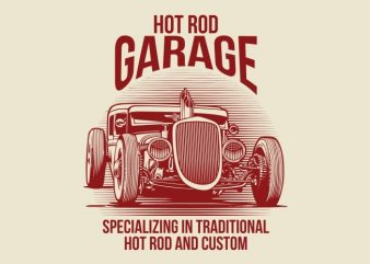 Hot Rod graphic t shirt