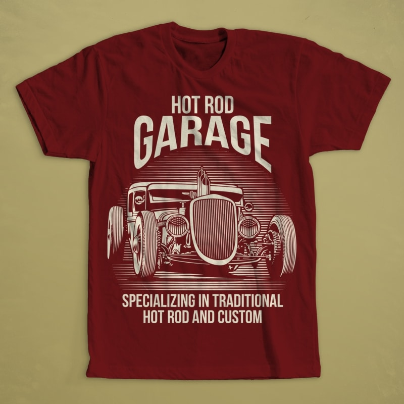 Hot Rod buy t shirt design