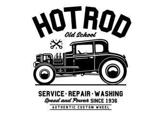 Hot Rod Old School buy t shirt design