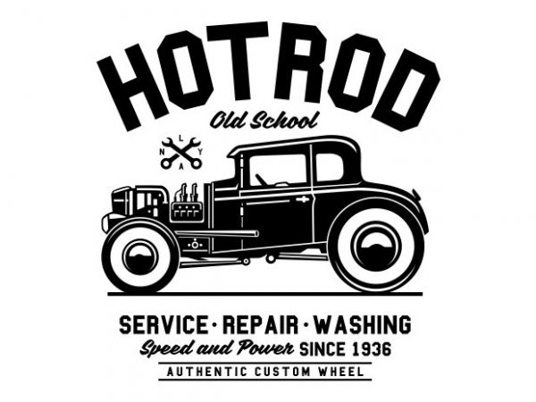 Hot Rod Old School buy t shirt design