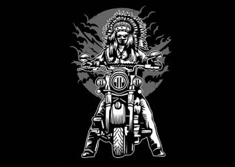 Indian Chief Motorcycle tshirt design buy t shirt design