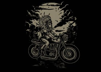 Indian Chief Rider tshirt design buy t shirt design